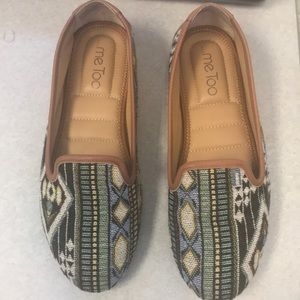 Me Too printed loafers 8.5
